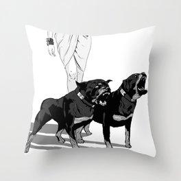 Fashion Rottweiler  Throw Pillow