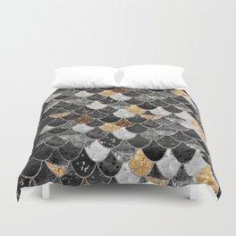 REALLY MERMAID BLACK GOLD Duvet Cover