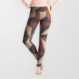 Cappuccino-Chocolate Art-Deco Pattern Leggings