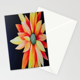 Orange Flower Stationery Cards