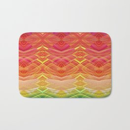 Dimensional Sunset Geometric Rainbow Bath Mat