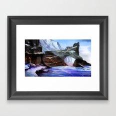 Frozen Temple Framed Art Print