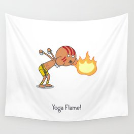 Yoga Flame! Wall Tapestry
