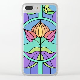 Stain Glass Clear iPhone Case