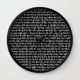 Love Letter Shakespeare Romeo & Juliet Pattern II Wall Clock