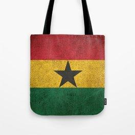Old and Worn Distressed Vintage Flag of Ghana Tote Bag