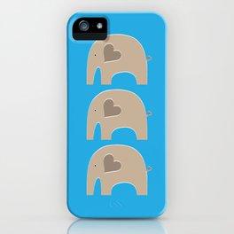 Blue Safari Elephant 2 iPhone Case