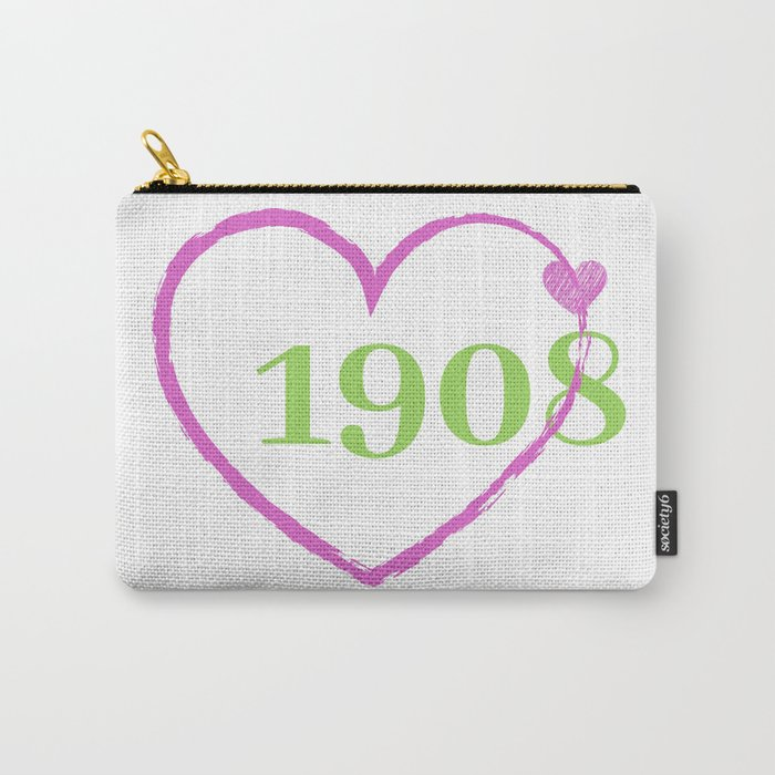 1908 Heart Carry-All Pouch
