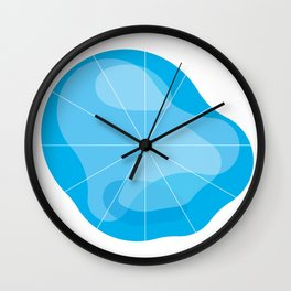 Clockface Blue Wall Clock