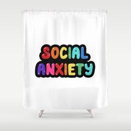 Social Anxiety Shower Curtain