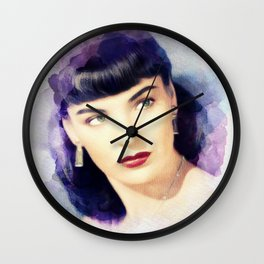 Ella Raines, Movie Legend Wall Clock