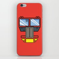 optimus prime iPhone & iPod Skins featuring Transformers - Optimus Prime by CaptainLaserBeam