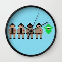 ghostbusters Wall Clocks featuring Ghostbusters by Pixel Icons