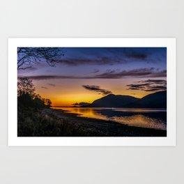 The Blue Hour over Loch Linnhe - Scottish Highlands Art Print