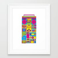 90s Framed Art Prints featuring 90s by sknny