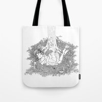 dreamer Tote Bags featuring Dreamer by KadetKat