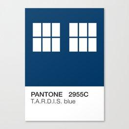 TARDIS Blue Pantone Canvas Print
