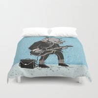 rhino Duvet Covers featuring Rhino by Ronan Lynam