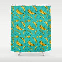 Thats Bananas - teal Shower Curtain