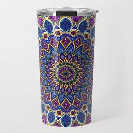 Sapphire Mandala Travel Mug