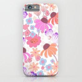 Retro Bloom 004 iPhone Case