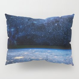 Earth and Galaxy Pillow Sham