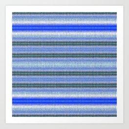 Woven Blue Art Print