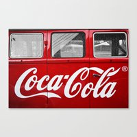 coca cola Canvas Prints featuring Coca Cola  by Lia Bernini