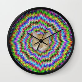 Dizzy Cat Abstract Wall Clock