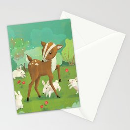 Babies in Meadows Stationery Cards