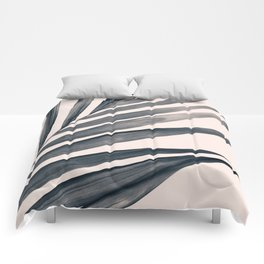 Gray Palm #1 Comforters