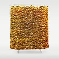 bubbles Shower Curtains featuring bubbles by Emma Harckham
