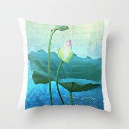 New Lotus Throw Pillow