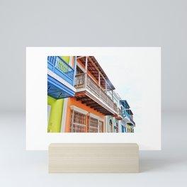 Colorful Old San Juan Mini Art Print
