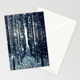 Magical Forest Teal Gray Elegance Stationery Cards