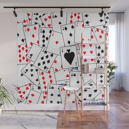 Random Playing Card Background Wall Mural