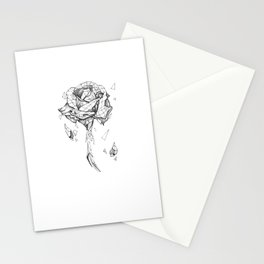 shattered rose Stationery Cards