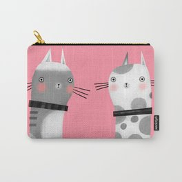 CATS ON PINK Carry-All Pouch
