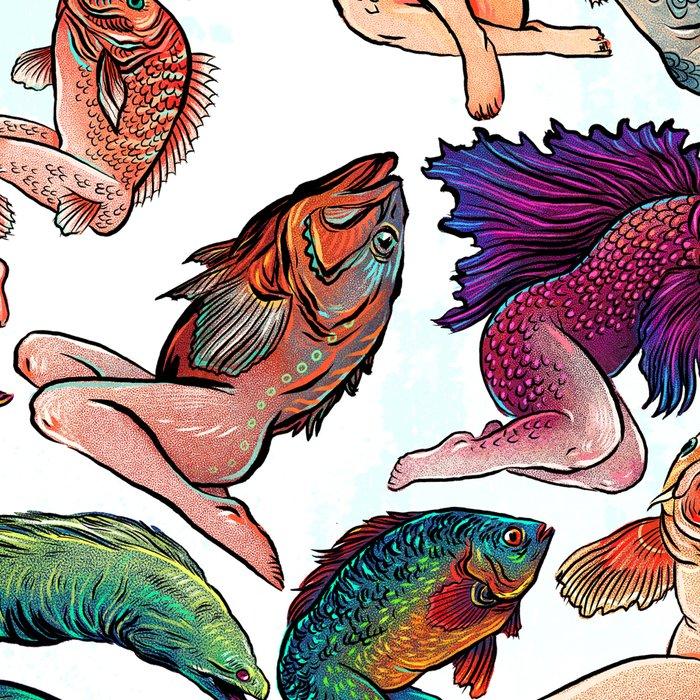 Reverse Mermaids Leggings
