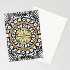 High contrast mandala Stationery Cards