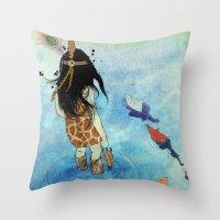 safari Throw Pillows featuring Safari by Zoï-Zoï