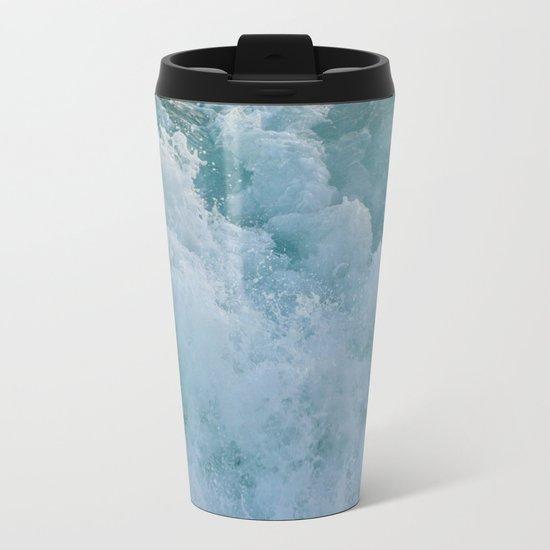 BUBBLES ON THE OCEAN Metal Travel Mug