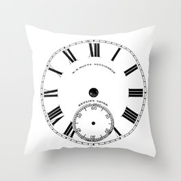 Time goes by vintage clock Throw Pillow