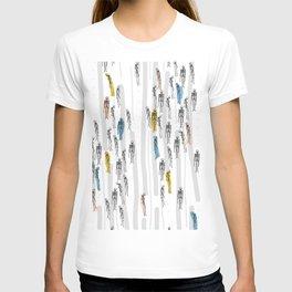 Modern, Stripey Human Skeleton Pattern. T-shirt