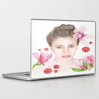 mulan Laptop & iPad Skins featuring Mulan Magnolia by Amber-1107studio