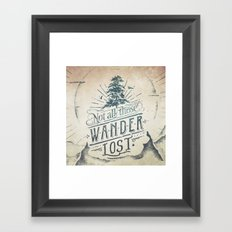 Im a wanderer Framed Art Print