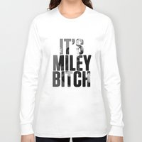 miley cyrus Long Sleeve T-shirts featuring Miley Cyrus by BreakoutStore