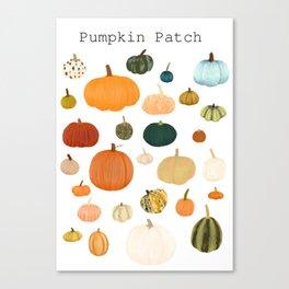 Pumpkin Patch Season Canvas Print