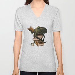 Well-Read Octopus Unisex V-Neck