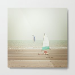 Land yacht beach Metal Print